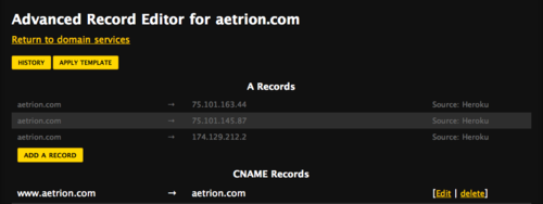 Advanced DNS Record