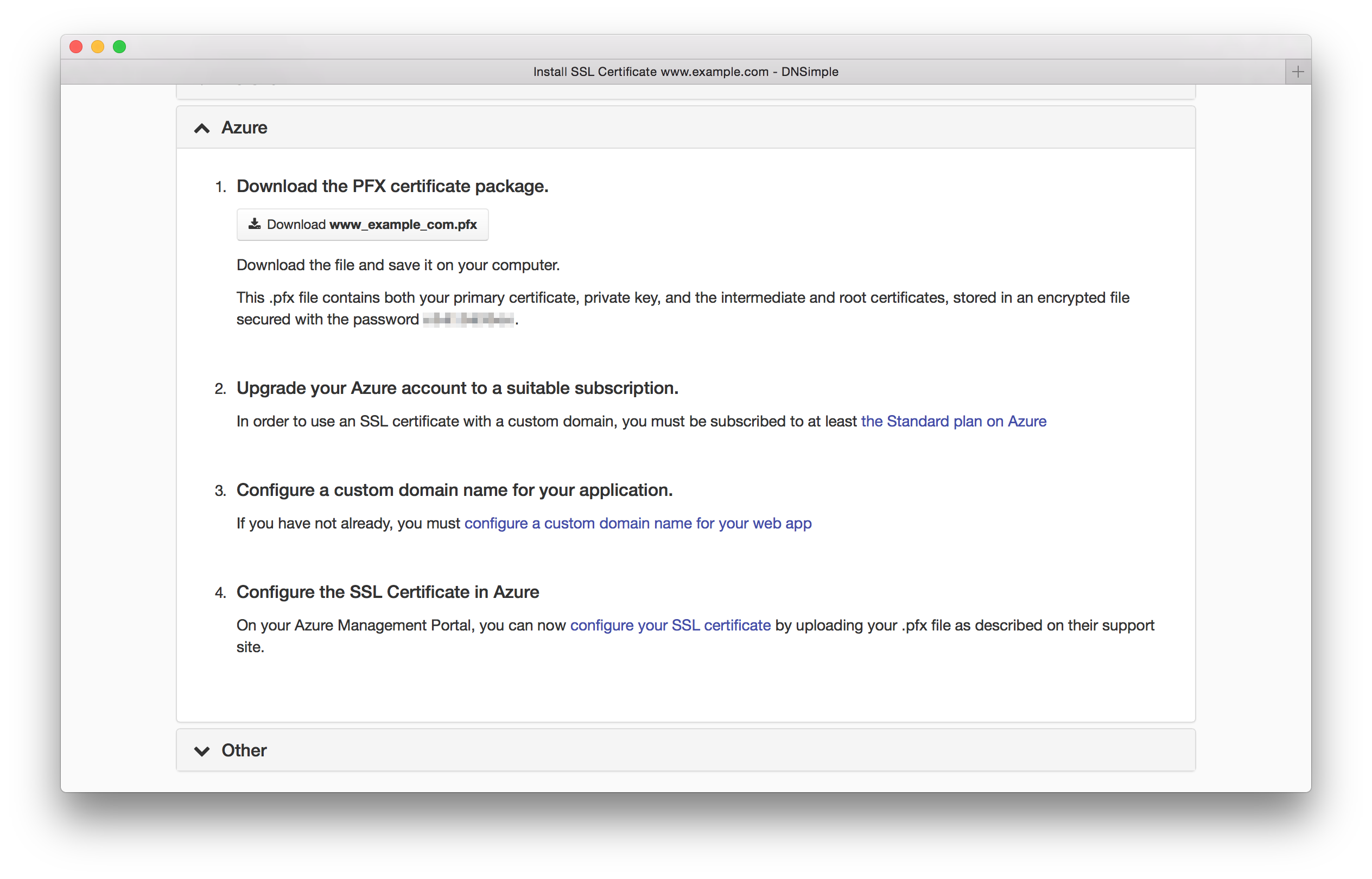 Announcing Ssl Installation Instructions For Azure Dnsimple Blog