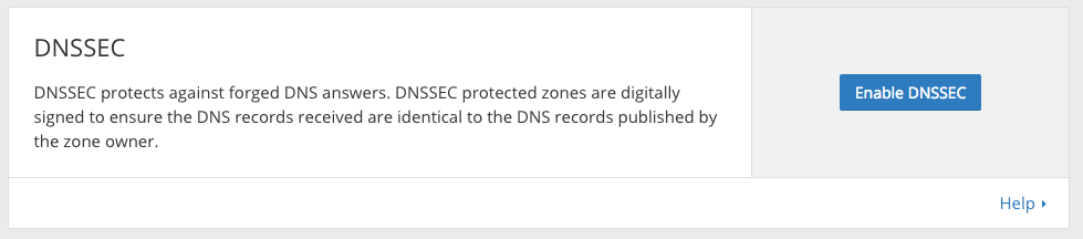 Enable DNSSEC at Cloudflare