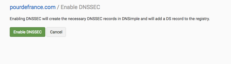 Enable DNSSEC